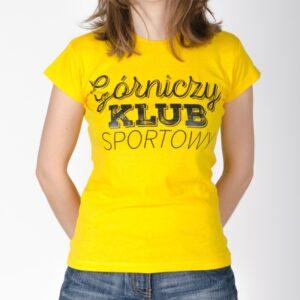 koszulka-damska-zolta-gorniczy-klub-sportowy